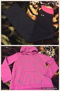 Under Armour hoodie and pants for girls