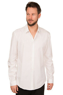 RRP €405 VERSACE Shirt Size 42 / 16 1/2 / L White Button Front Made in Italy