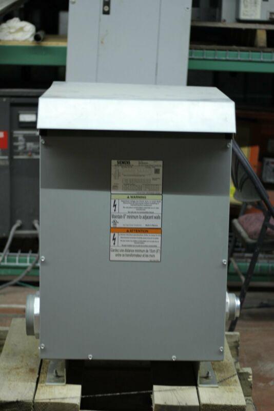 SIEMENS 3R 3F1Y030D16 Transformer 75KVA 240X480-120/240V SINGLE PHASE 2 YEAR WA