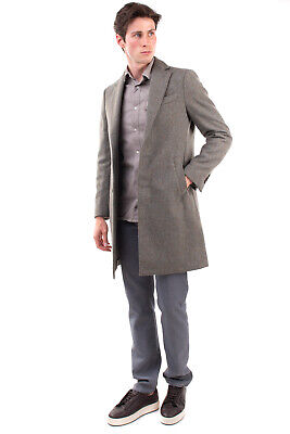 RRP €790 LARDINI Boiled Wool Coat Size 46 / S Single Breasted Made in Italy
