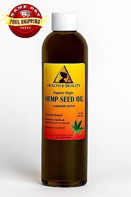 HEMP SEED OIL UNREFINED ORGANIC CARRIER VIRGIN COLD PRESSED RAW PURE 8 (Raw Organic Cold Pressed Hemp Seed Oil)