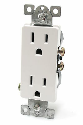 RPP Device DRD15-WH Decorator Receptacle, 125V, 15A, 5-15R, White, 100pcs