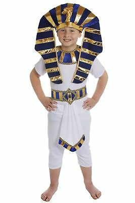 Jungen Pharao Kostüm (ÄGYPTISCHES KINDER JUNGEN KOSTÜM VERKLEIDUNG PHARAO PRINZ KÖNIG NIL PYRAMIDE)