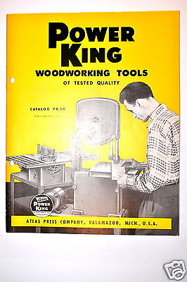 Atlas Power King Woodworking Tools Catalog Pk50 1950 Rr173 Saw Lathe Drill