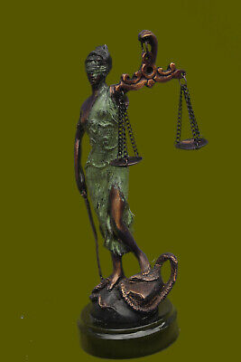 Blind Justice (Bronze Blind Lady of Justice Scales Law Lawyer Attorney Office Statue)