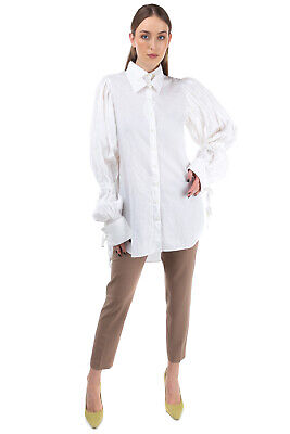RRP €275 ANN DEMEULEMEESTER Shirt Size 38 / S Detachable Collar Made in Portugal