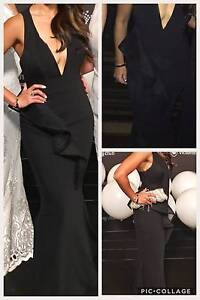 BLACK LONG FORMAL GOWN COCKTAIL PROM BALL MAXI EVENING DRESS Sz6 Southbank Melbourne City Preview