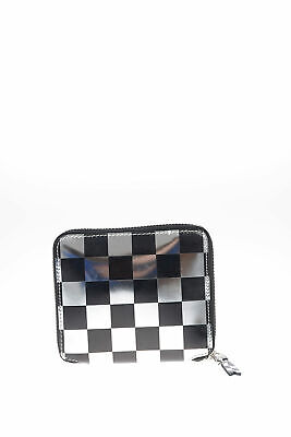 COMME DES GARÇONS women Wallets and Card Holders Leather Checked Wallet Silver