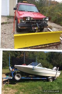 Package deal, boat and plow truck for trade