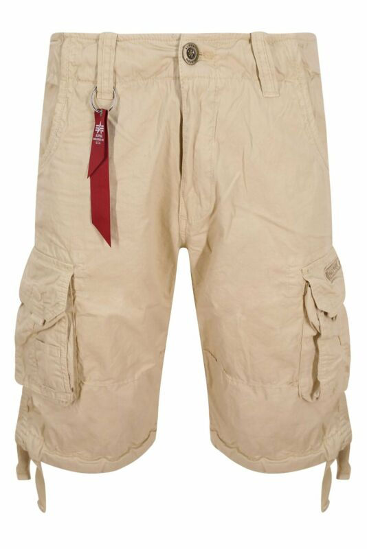 ALPHA INDUSTRIES Jet SHORT kurze Cargo Hose Herren Bermuda Sport Shorts