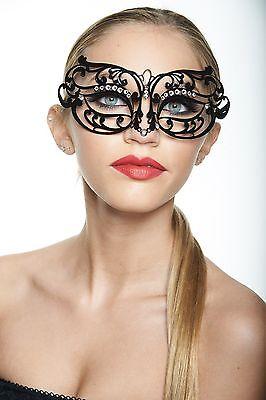 (Venetian Laser Cut Masquerade Mask with Rhinestones Wedding Prom Mardi Gras NEW)