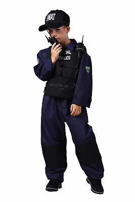 SWAT Kostüm Kinder Jungen Anzug m Zubehör Agent - Swat Kostüme Zubehör