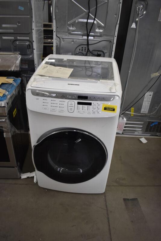 Samsung 7.5 cu. ft. Capacity FlexDry Electric Dryer White DVE55M9600W