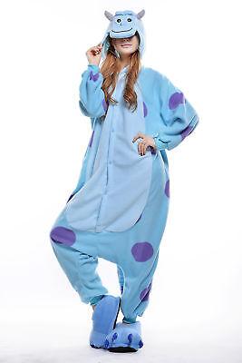 Women Men Unisex Adult Onesie0 Animal Sulley Kigurumi Pajama Cosplay - Mens Animal Onesie