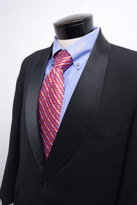 after six black single button formal jacket coat sz 44R mens #4078
