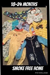 Lot of boys 18-24 month carters and pekkle sleepers