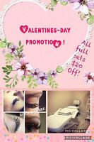 Eyelash Extensions ( DDO) Valentines Day promotion!