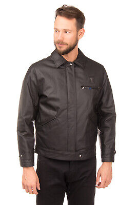 RRP €410 PIERO GUIDI Jacket Size L Black Coated Quilted Inside Made in Italy