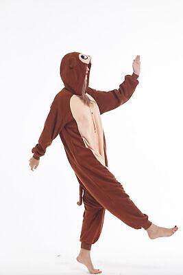 Adult Pajamas Monkey Sleepwear Christmas Animal Cosplay Costume Kigurumi Onesie0](Christmas Adult Pajamas)