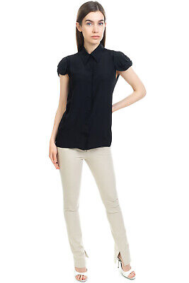RRP€425 N 21 Shirt Blouse Size 40 / S Silk Blend Bow Detail Ruched Made in Italy