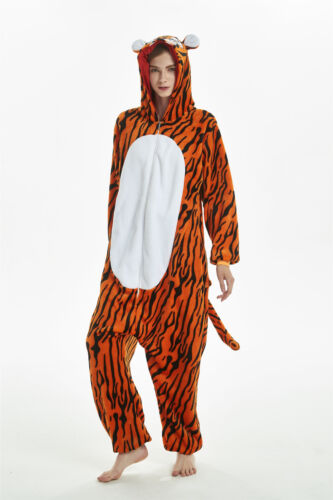 c4105295f68e NEW Tiger Animal Unisex Cosplay Kigurumi Fancy Dress Costume Onesie888  Pajamas