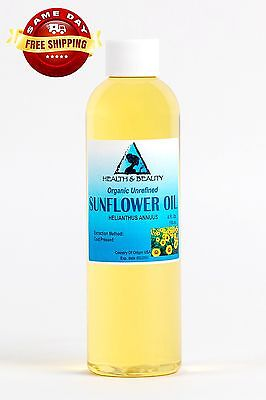 SUNFLOWER OIL UNREFINED ORGANIC CARRIER COLD PRESSED VIRGIN RAW PURE 4 OZ