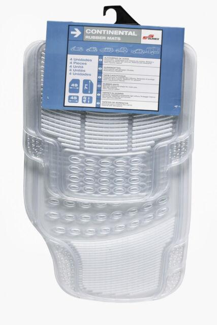 Sumex Universal 4pcs Heavy Duty Durable Rubber Car Floor Mats -Clear Transparent