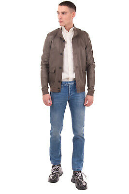 RRP €1035 SALVATORE SANTORO Leather Bomber Style Jacket Size 50 L Made in Italy