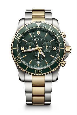 Victorinox 241693 Maverick Verde Esfera Acero Inoxidable Pulsera Reloj de Hombre