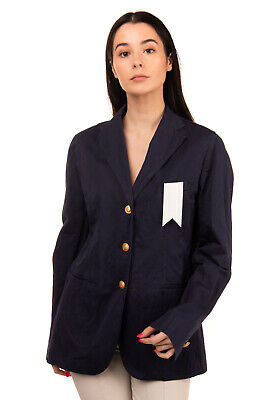 RRP €460 THE GIGI Military Blazer Jacket Size 46 Single Breasted Made in Italy