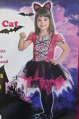 Girls Tween M 8-10 Pink Leopard Sequins Sassy Cat Costume Tutu Dress Dress-Ups