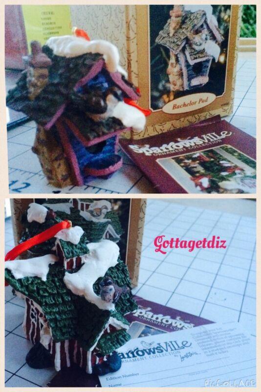2 SparrowsVille Ornament Bachelor Pad & The Hayloft 1996 Ertl