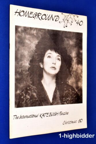 Kate Bush Homeground #40 Christmas 1990 Rare UK Fanzine OOP