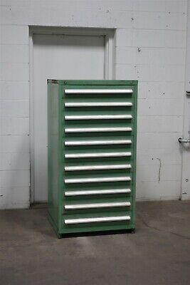 Used Stanley Vidmar 11 Drawer Cabinet Industrial Tool Storage Bin 2003