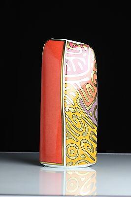 Vase Hutschenreuther Orange Gold Selten Rar