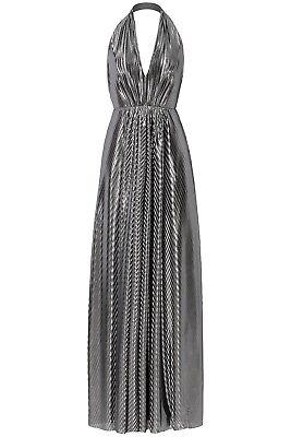 JILL STUART Silver Tone Halter Neck Evening Dress Size  UK 6