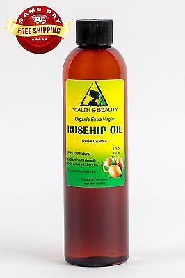 ROSEHIP SEED OIL UNREFINED ORGANIC EXTRA VIRGIN COLD PRESSED PREMIUM PURE 8 OZ