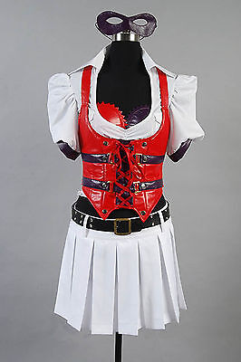Batman Arkham Asylum City Harley Quinn Fancy Dress Cosplay Costume Tailored