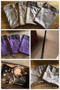 Purple Curtains with Rods