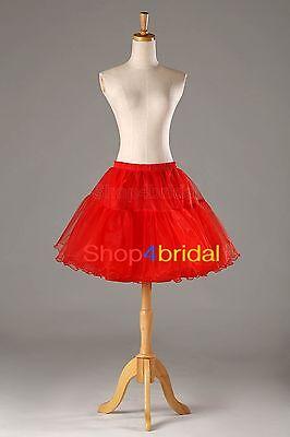 White/Black/Red Crystal Yarn Cocktail Prom Dress Petticoat Slip Short Skirt TUTU