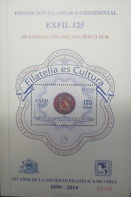 O  2014 Chile   Exfil 125  Continental Philatelic Exhibition Iii South Pacific E