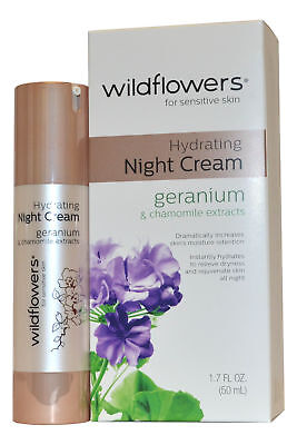 Wildflower Creme (Wildflowers Skincare Nachtcreme Feuchtigkeitsspendend 50ml für Empfindliche Haut)