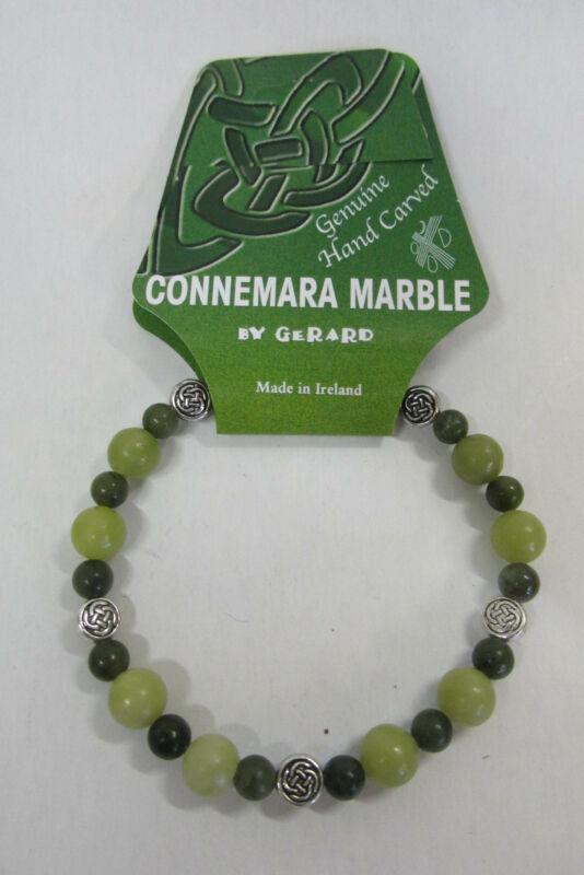 GENUINE Connemara Marble Celtic Stretch Bracelet Guaranteed Irish I