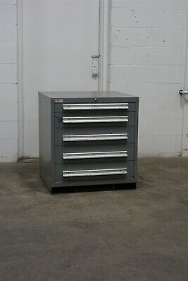 Used Lyon 5 Drawer Cabinet 33 Inch Tall Industrial Tool Storage 1759 Vidmar
