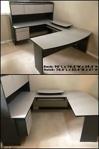 Large office desk with hutch