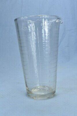 Vintage 2 Pint Glass Lab Beaker Wide Mouth Pour Spout 08529
