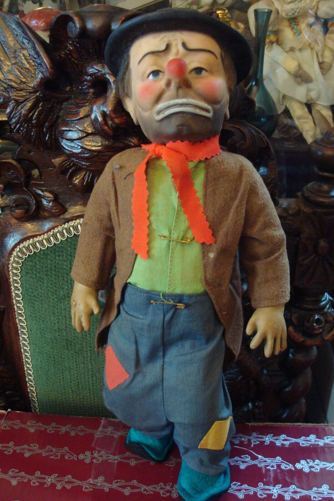 1950s Emmett Kelly Weary Willy The Clown Doll Made By