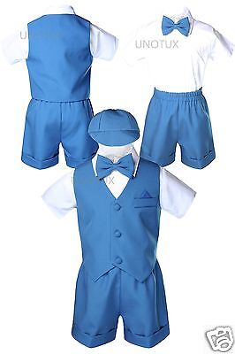 Green Teal Baby Boys Toddler Formal Bow Tie Hat Vest Set ...