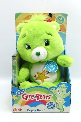 Care Bears Oopsy Bear Green Plush Teddy Toy & DVD Play Along (Green Care Bear)