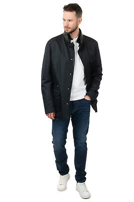 RRP €2675 BRIONI Jacket Size 3XL Silk Blend Contrast Leather Made in Italy